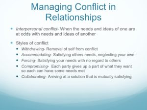 managing relationship conflicts